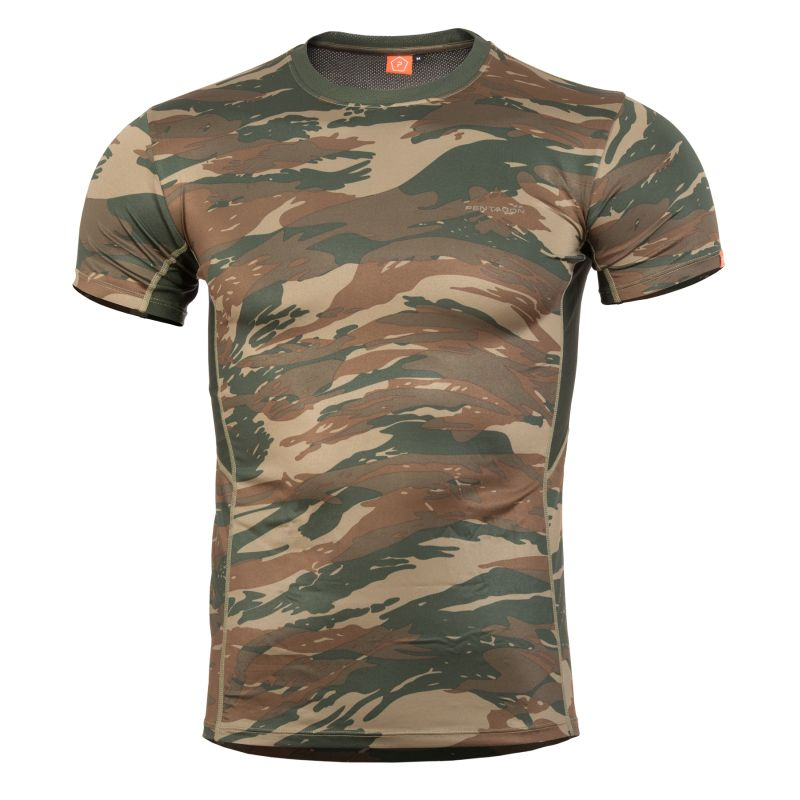 11de405a5 Pentagon APOLLO TAC-FRESH - funkčné tričko - Greek Camo