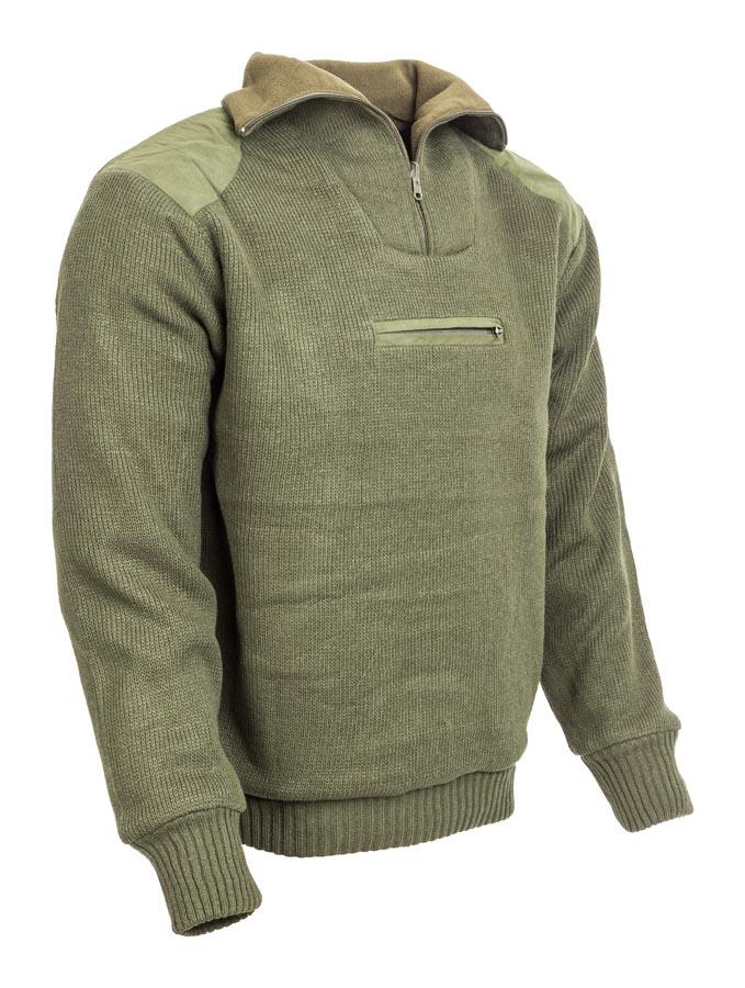 e01a69092 M-Tramp poľovnícky obojstranný pulóver - OLIVA. M-Tramp grónsky obojstranný  sveter so zosilnenými ramenami a lakťami