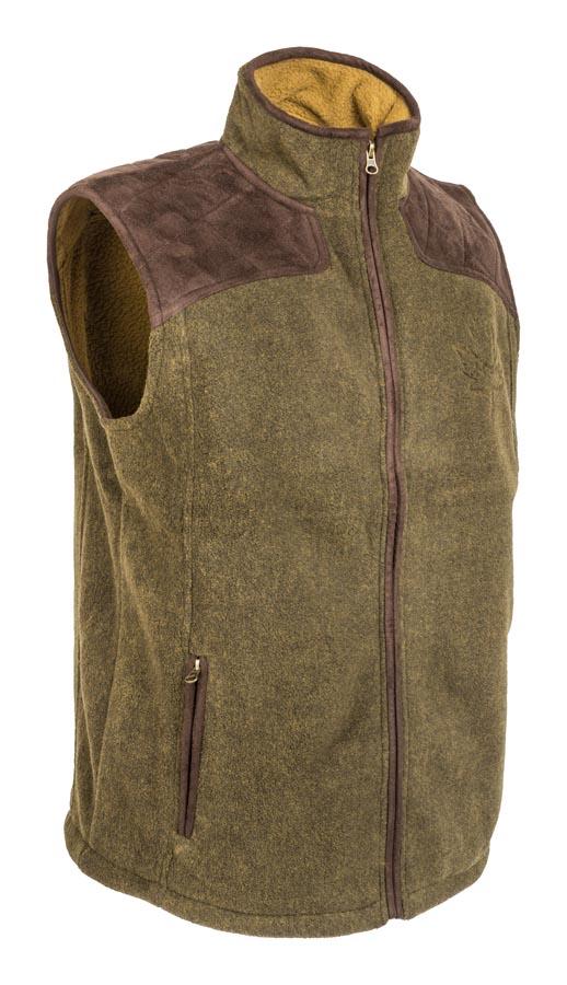 d298a71be M-Tramp poľovnícka flisová vesta- supersoft fleece, OLIVA