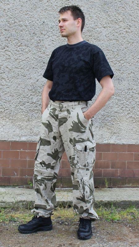 823495bfb Kapsáčové nohavice DEFENSE, 100 % bavlna, spraný vzhľad - SANDCAMO