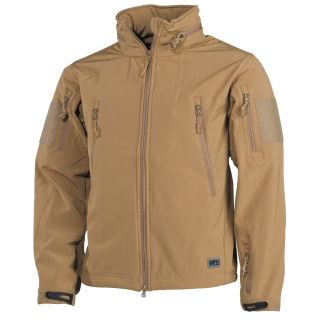 Bunda SCORPION Softshell, MFH - COYOTE